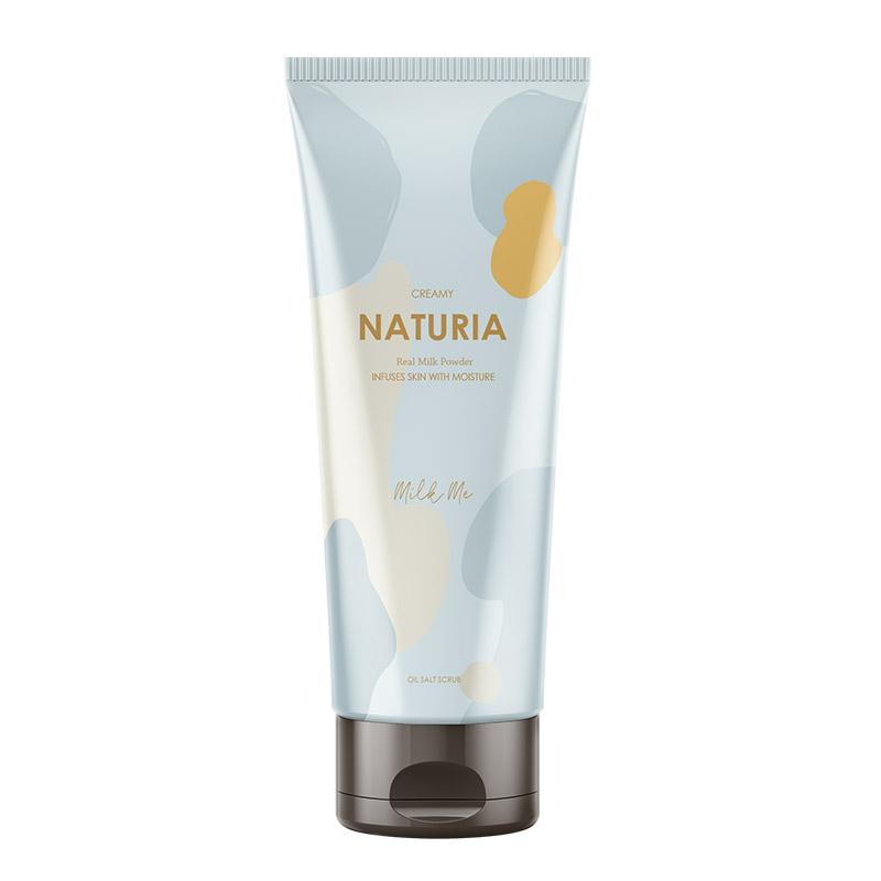 Скраб для тела молочный EVAS Naturia Creamy Oil Salt Scrub Milk Me - 250 мл