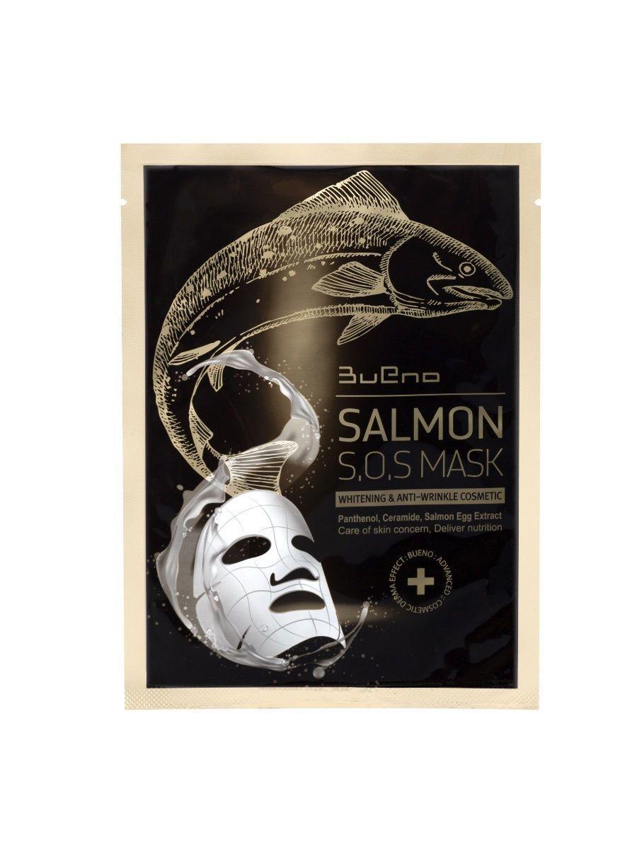 Тканевая лифтинг-маска с икрой лосося Bueno Salmon S.O.S Mask - 45 мл