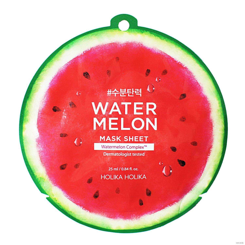 Увлажняющая тканевая маска с арбузом Holika Holika Watermelon Mask Sheet - 31 гр
