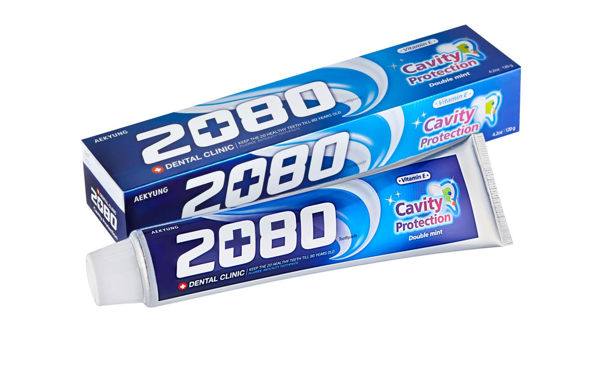 Зубная паста с мятой Dental Clinic 2080 Cavity Protection Double Mint - 120 гр