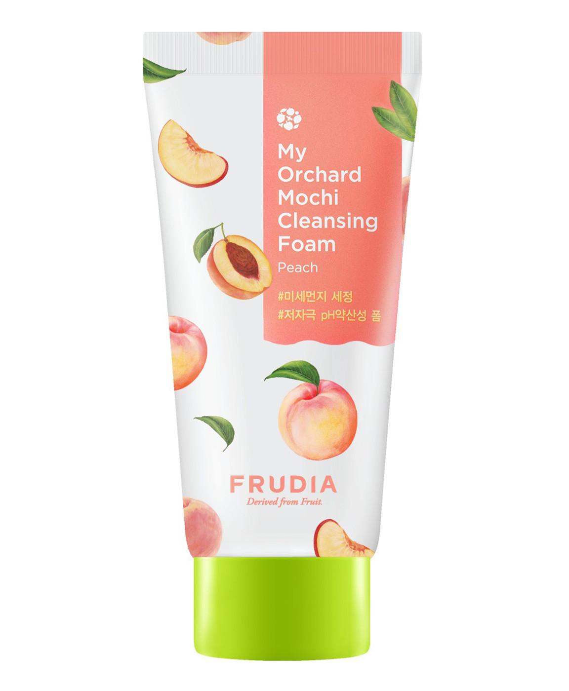 Миниатюра пенки c персиком Frudia My Orchard Peach Mochi Cleansing Foam - 31 гр