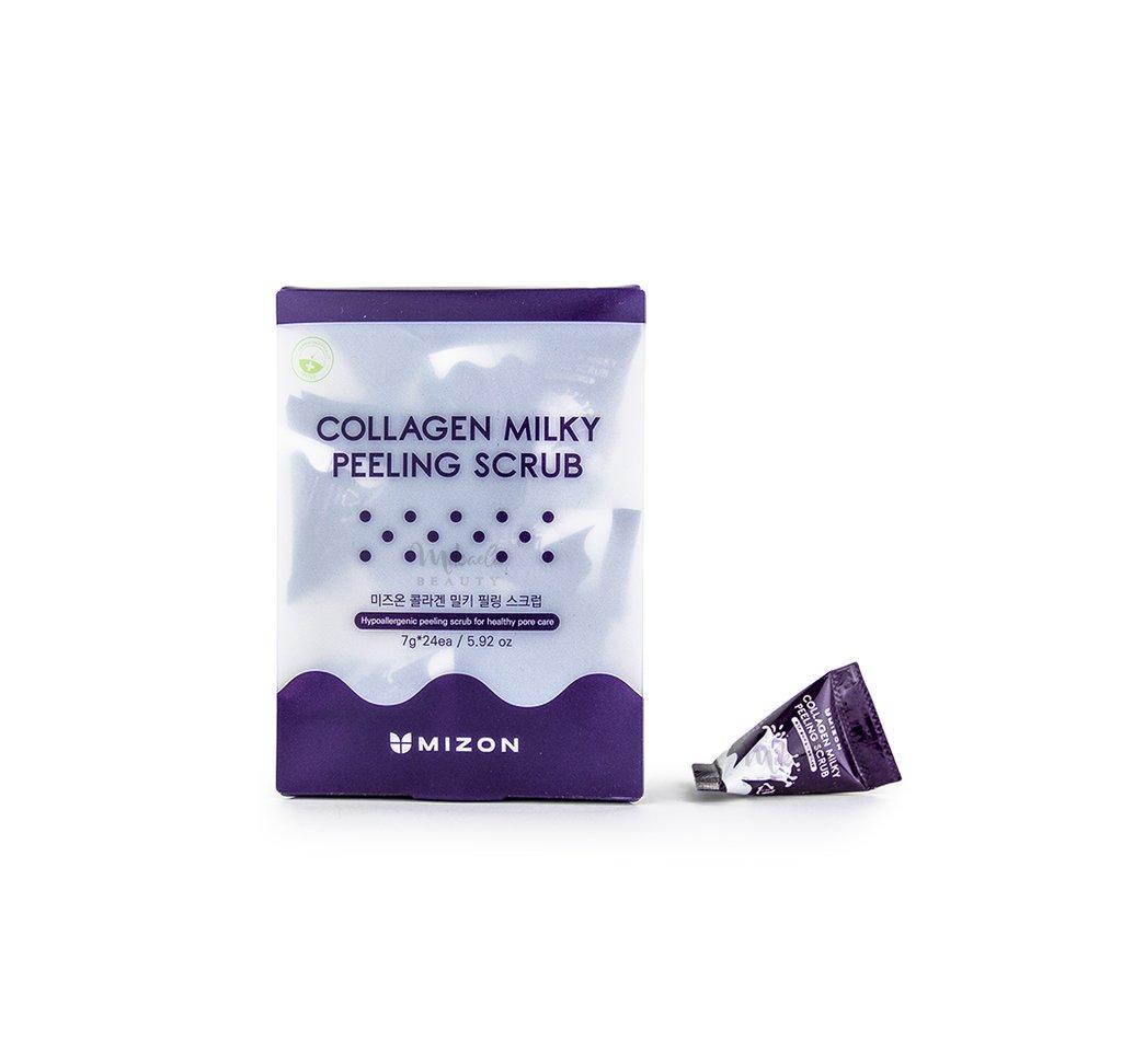 Скраб для лица с коллагеном Mizon Collagen Milky Peeling Scrub - 7 гр