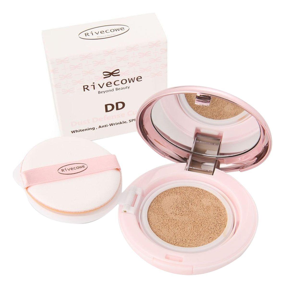 Тональный кушон для лица Rivecowe Beyond Beauty DD Dust Defense Cushion SPF50+ РА+++ - 13 гр