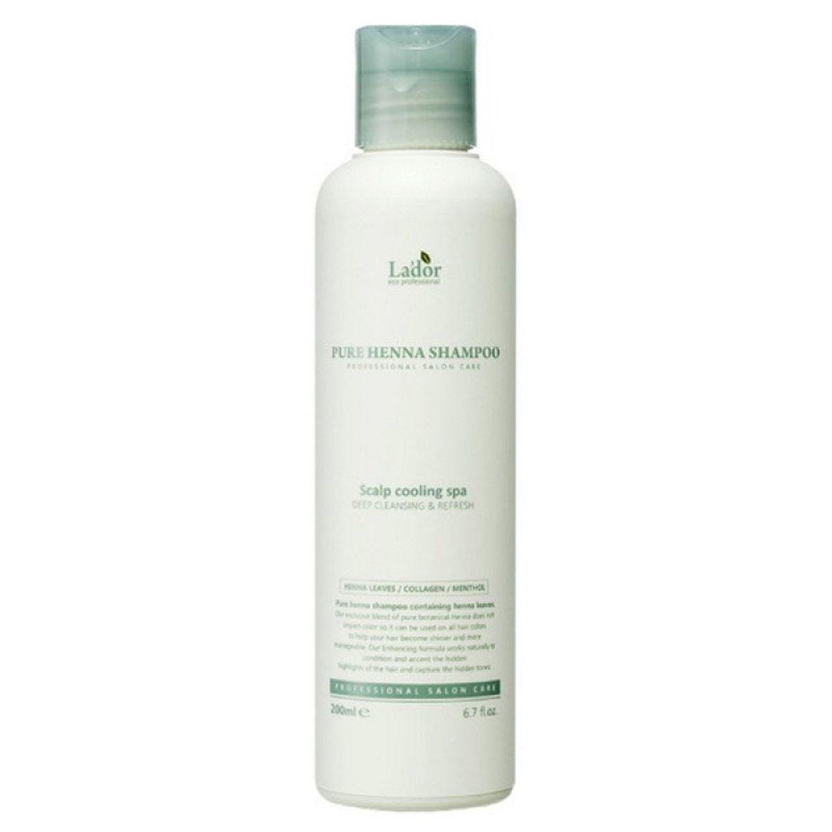 Укрепляющий шампунь с хной Lador Pure Henna Shampoo - 200 мл