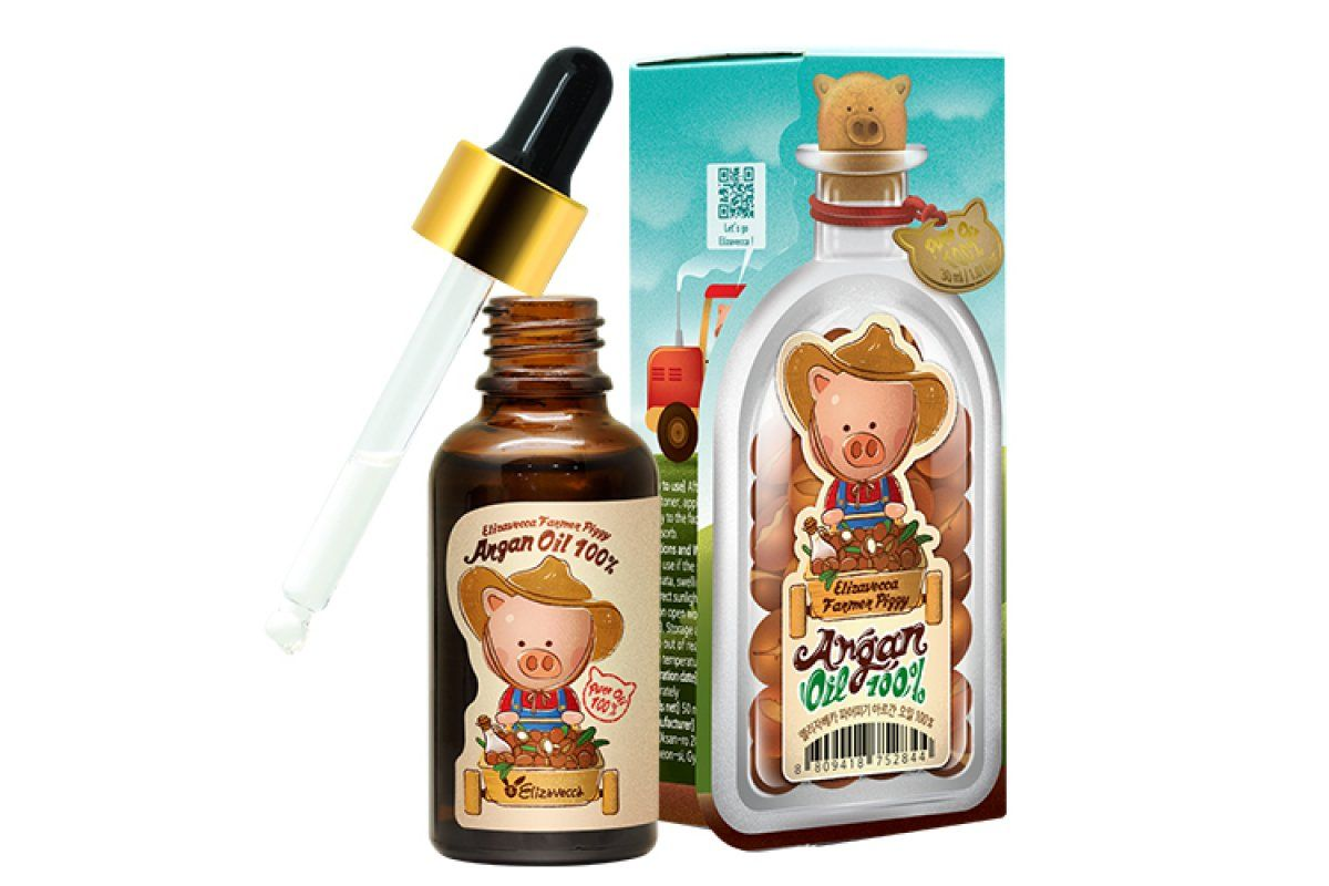 Аргановое масло для лица, тела и волос Elizavecca Farmer Piggy Argan Oil 100% - 30 мл