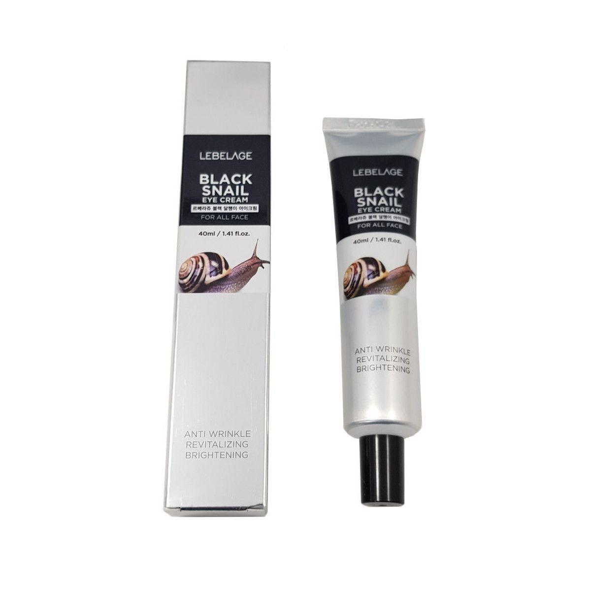 Крем для кожи вокруг глаз с муцином черной улитки LEBELAGE Eye Cream Black Snail - 40 мл