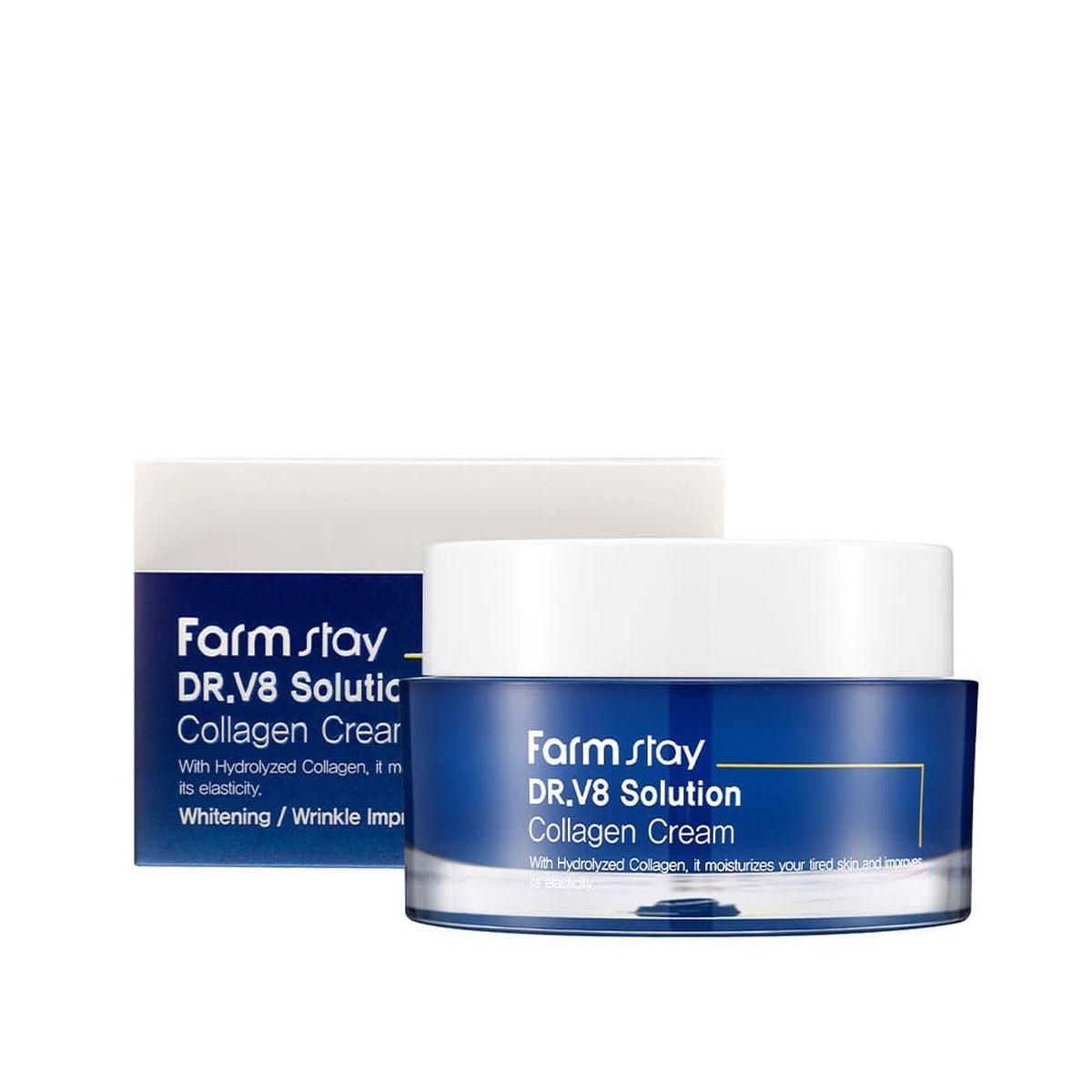 Увлажняющий крем для лица с коллагеном FARMSTAY Dr.V8 Solution Collagen Cream - 50 мл