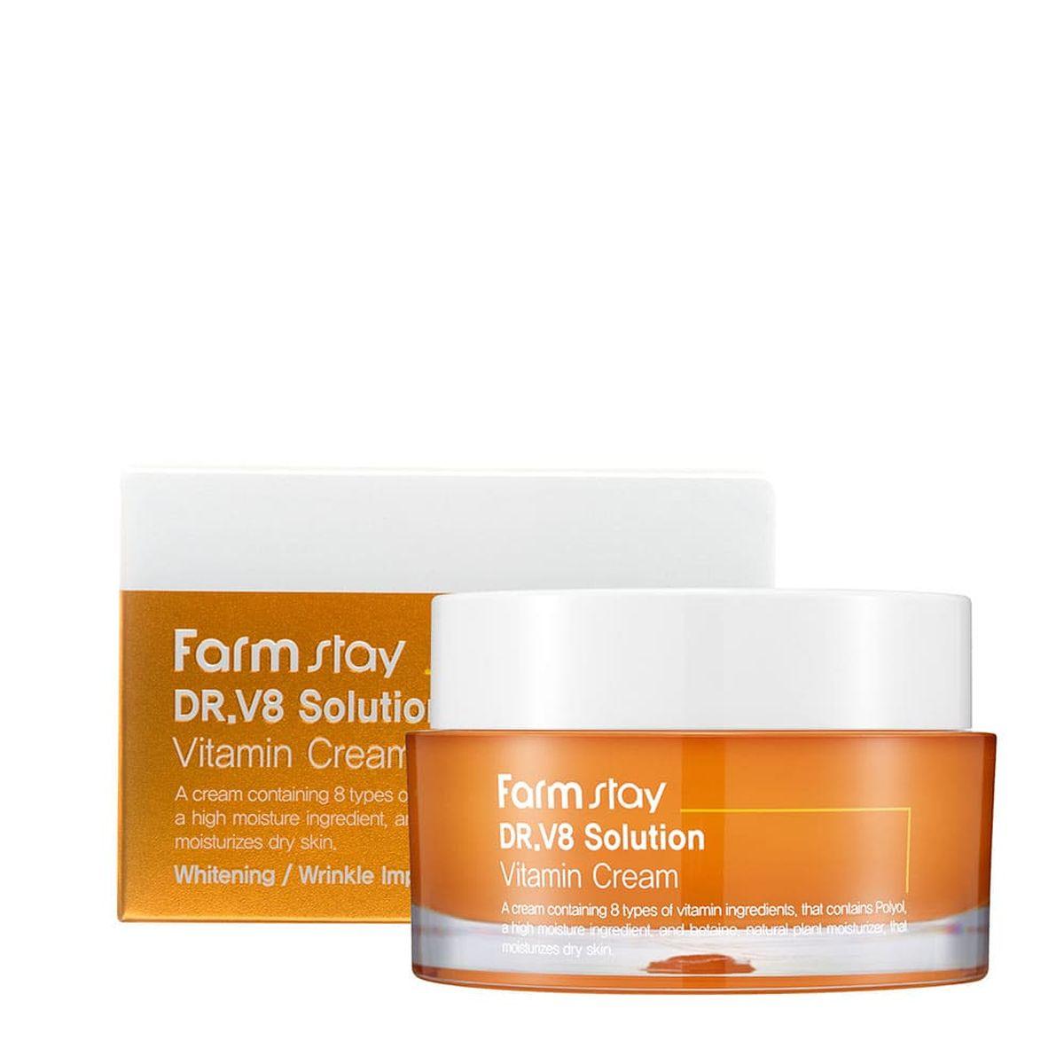 Крем для лица с витаминами FARMSTAY Dr.V8 Solution Vitamin Cream - 50 мл
