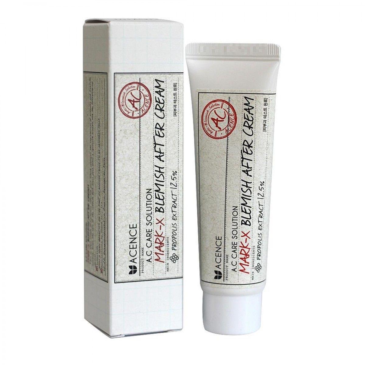 Крем от прыщей и рубцов-постакне  MIZON Acence Mark X Blemish After Cream - 30 мл