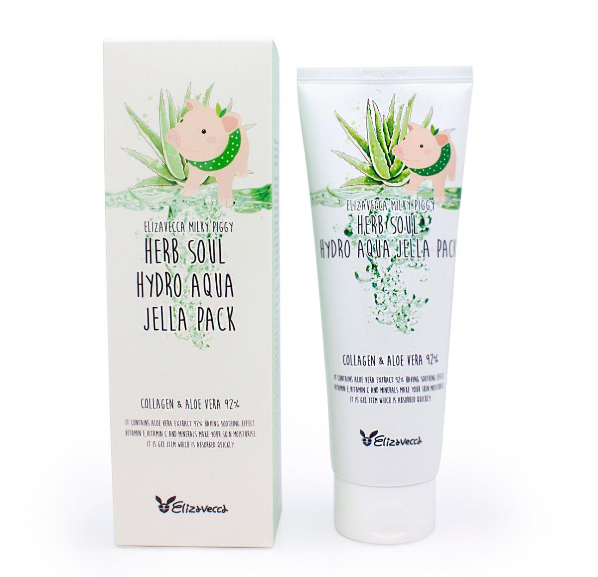 Увлажняющая маска для лица Elizavecca Milky Piggy Herb Soul Hydro Aqua Jella Pack - 250 мл