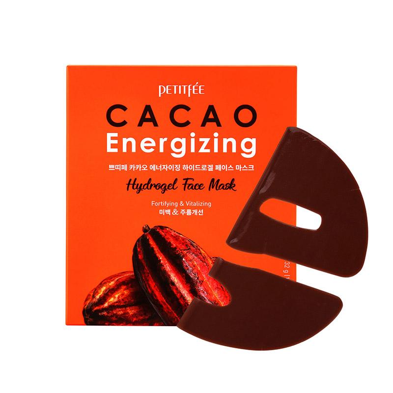 Тонизирующая гидрогелевая маска для лица с какао Petitfee Cacao Energizing Hydrogel Face Mask - 32 гр