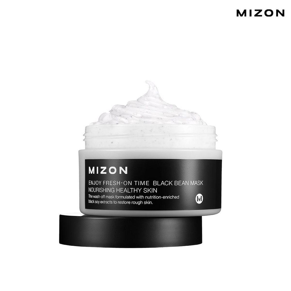 Маска для лица с бобами MIZON Enjoy Fresh-On Time Black Bean Mask - 100 мл