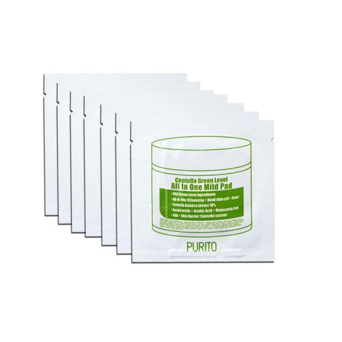 Очищающие увлажняющие пэды с центеллой PURITO Centella Green Level All In One Mild Pad  - 1 шт