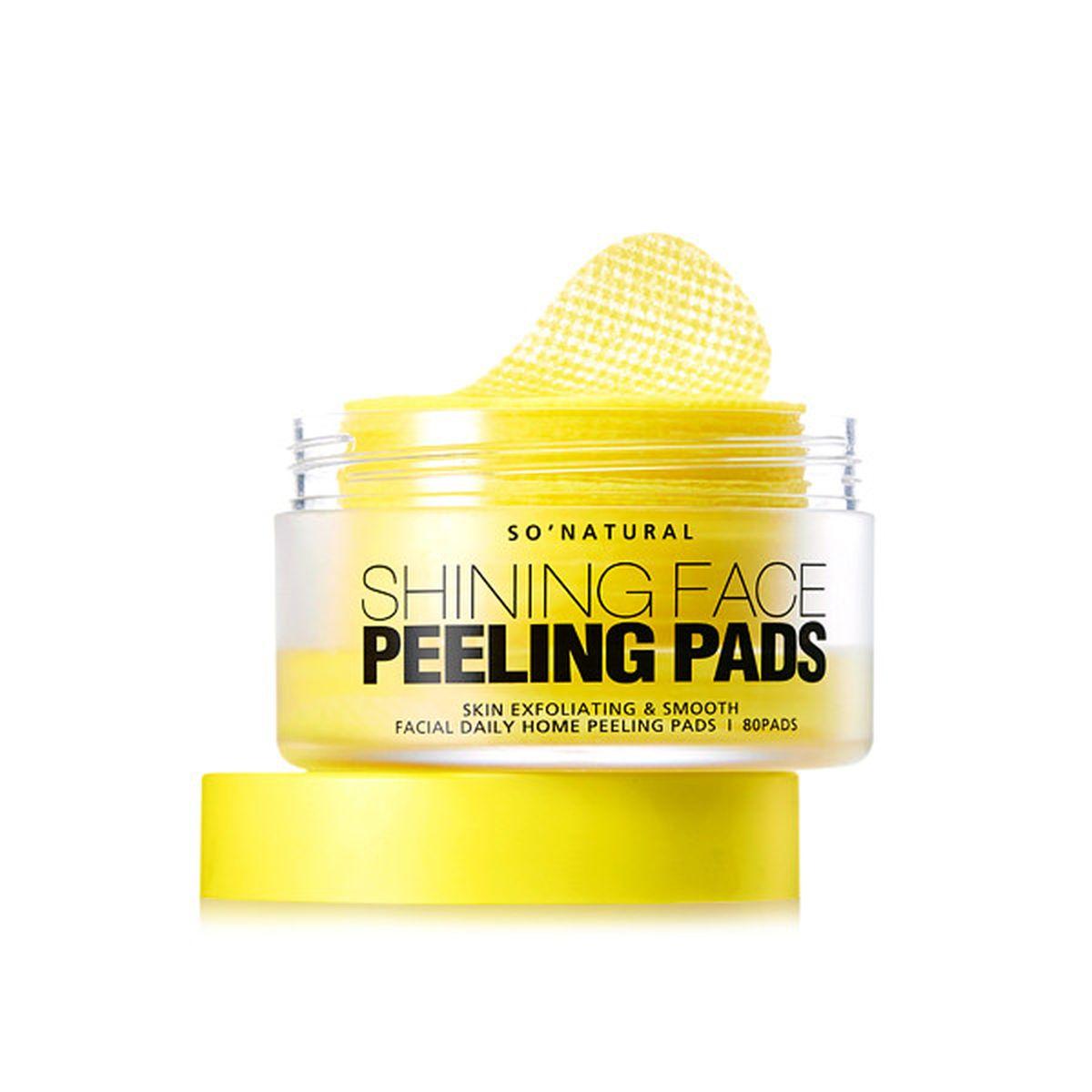 Пилинг-пэды с витамином С So Natural Shining Face Peeling Pads - 80 шт