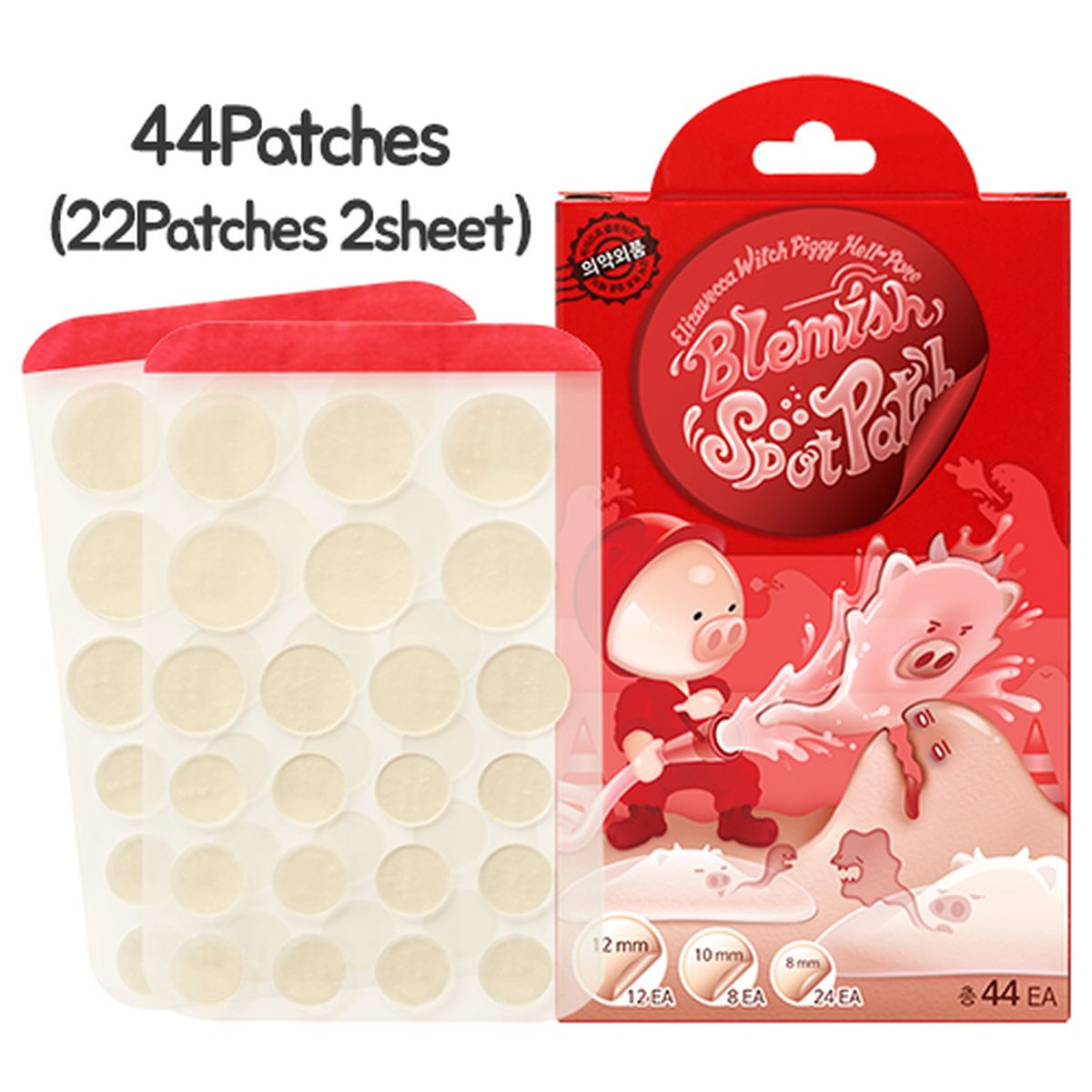 Патчи от прыщей Elizavecca Witch Piggy Hell Pore Blemish Spot Patch - 44 шт