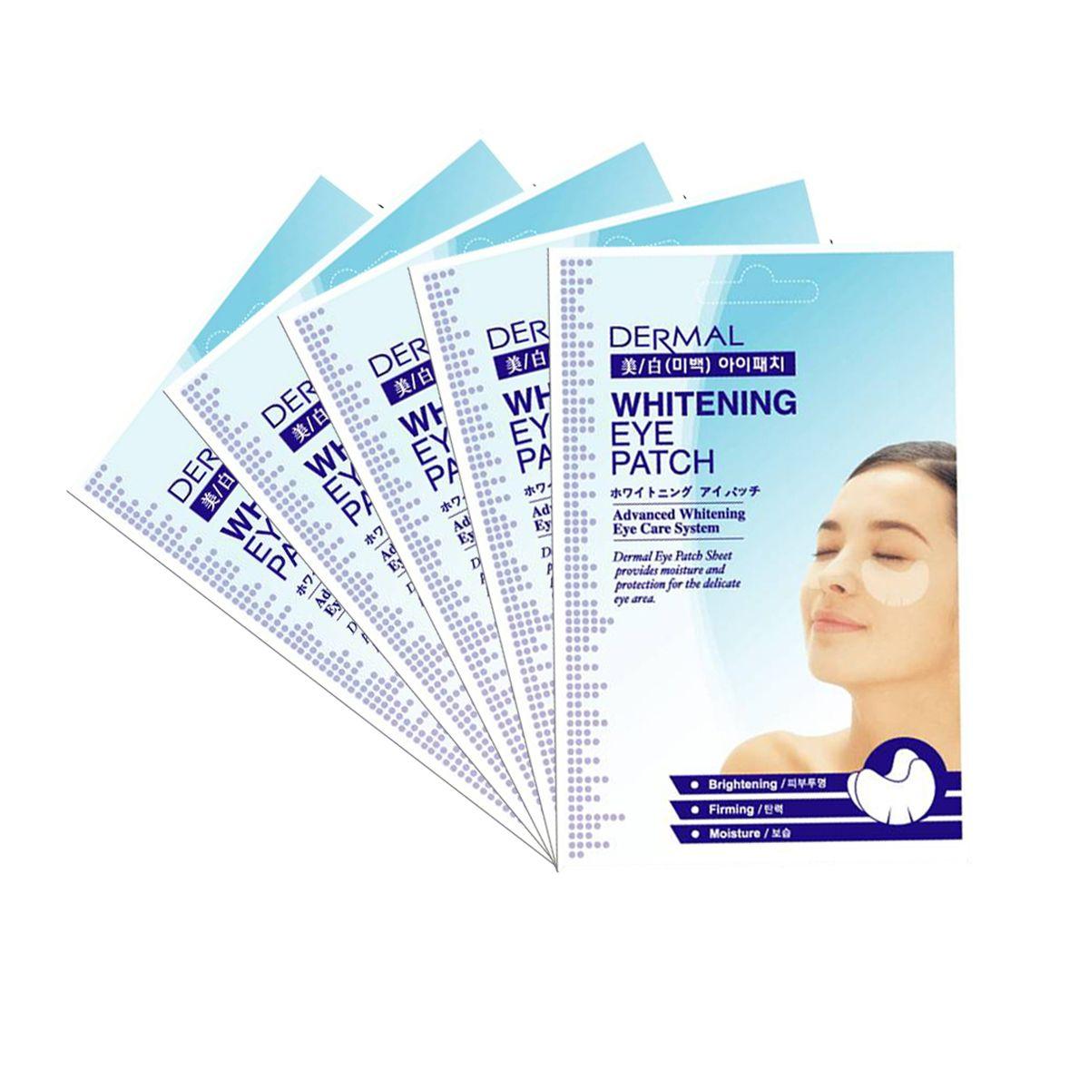 Осветляющие патчи для век DERMAL Whitening Eye Patch - 6 гр