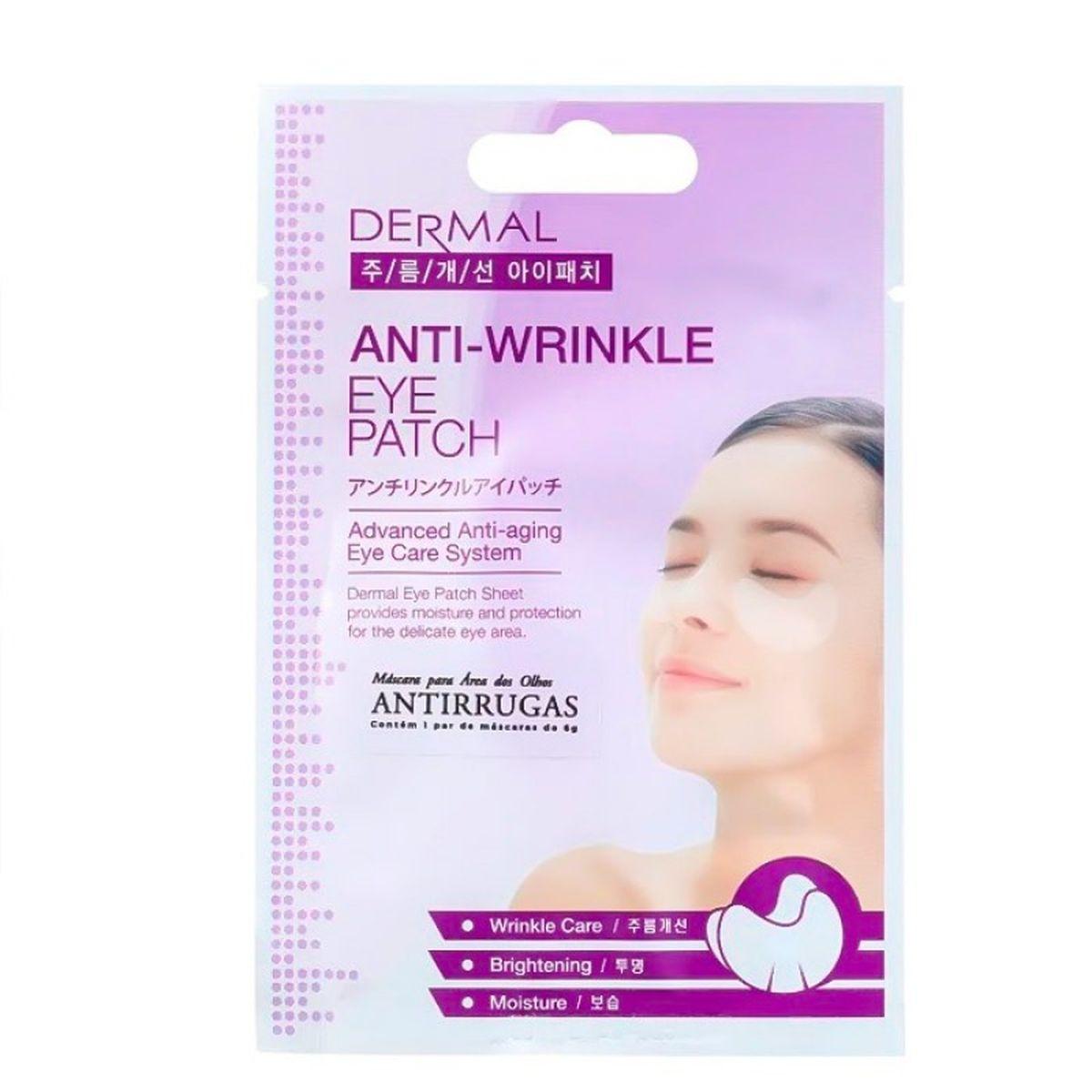 Антивозрастные патчи для век DERMAL Anti-Wrinkle Eye Patch - 6 гр