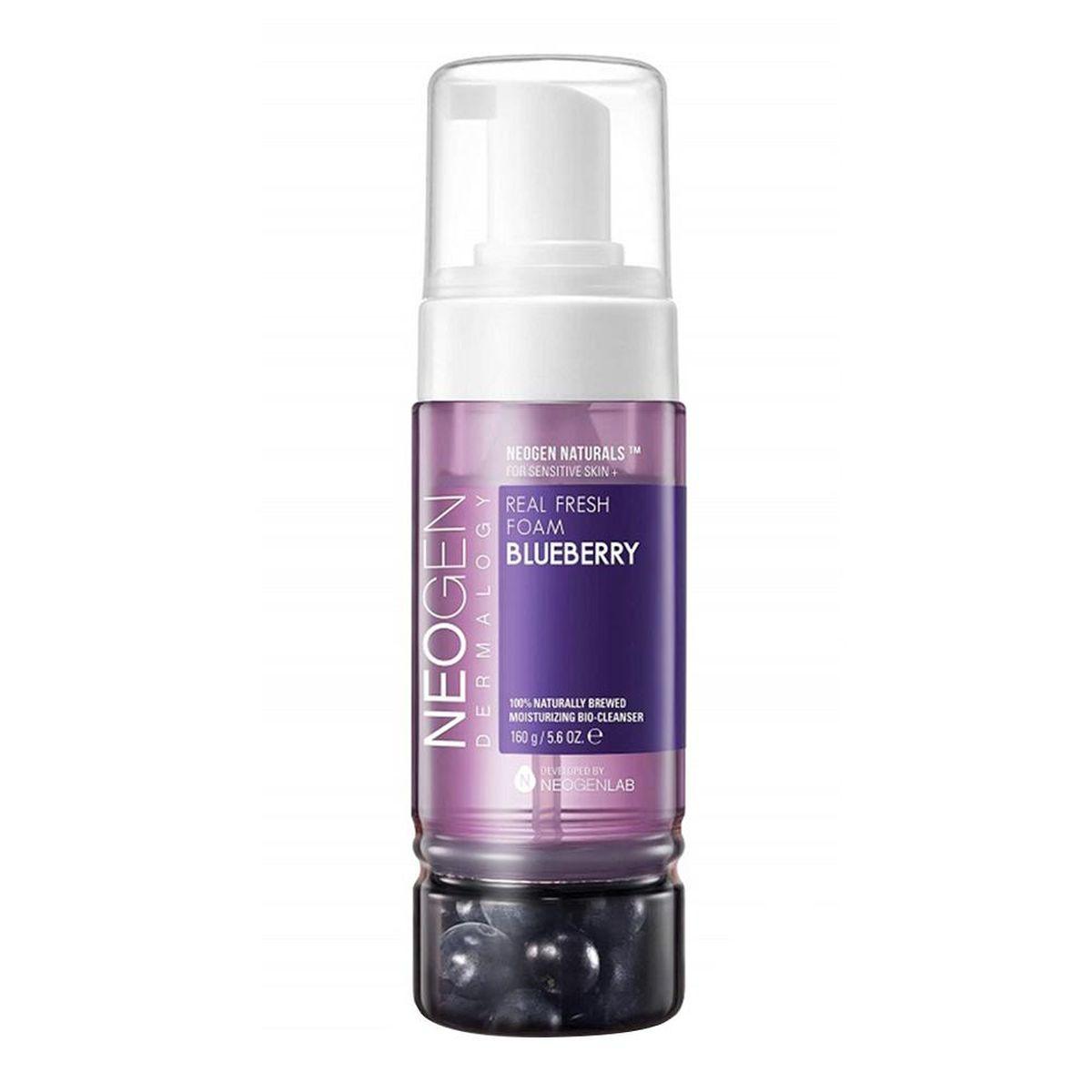 Увлажняющая пенка для умывания с черникой Neogen Dermalogy Real Fresh Foam Cleanser Blueberry - 160 гр