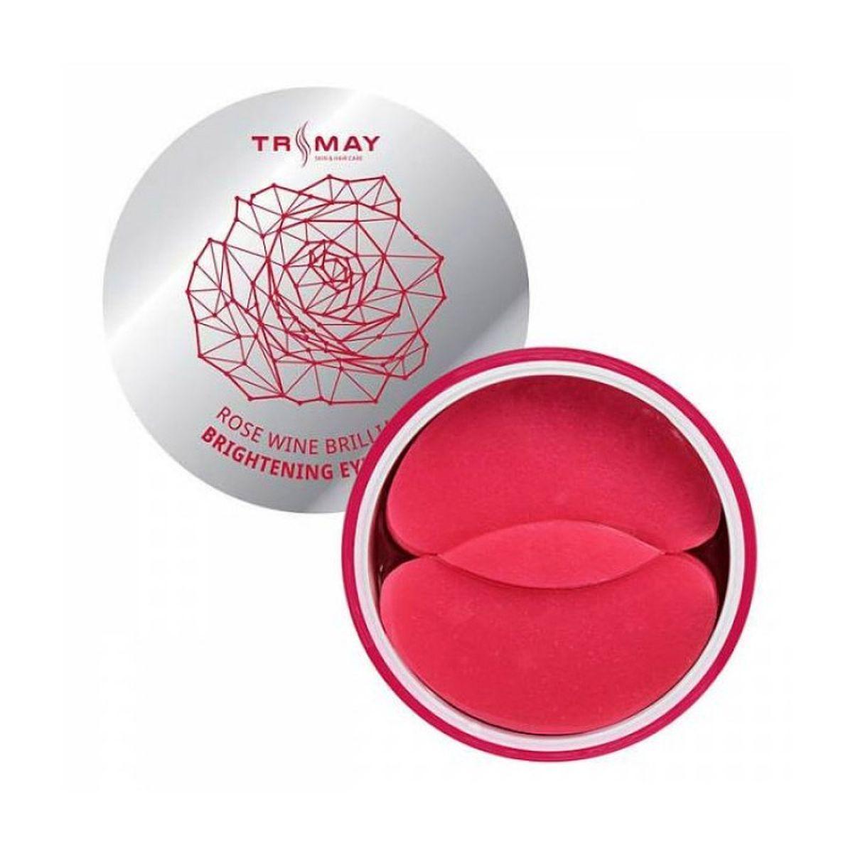 Осветляющие гидрогелевые патчи для глаз с вином TRIMAY Rose Wine Brilliant Brightening Eye Patch - 90 шт