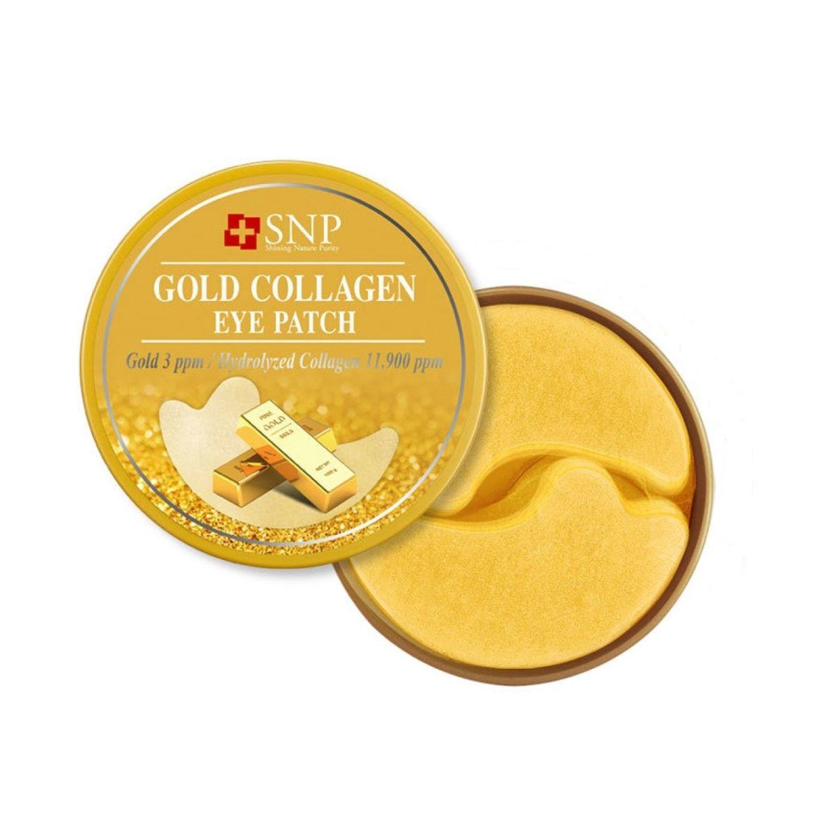 Гидрогелевые патчи для глаз с золотом и коллагеном SNP Gold Collagen Eye Patch - 60 шт