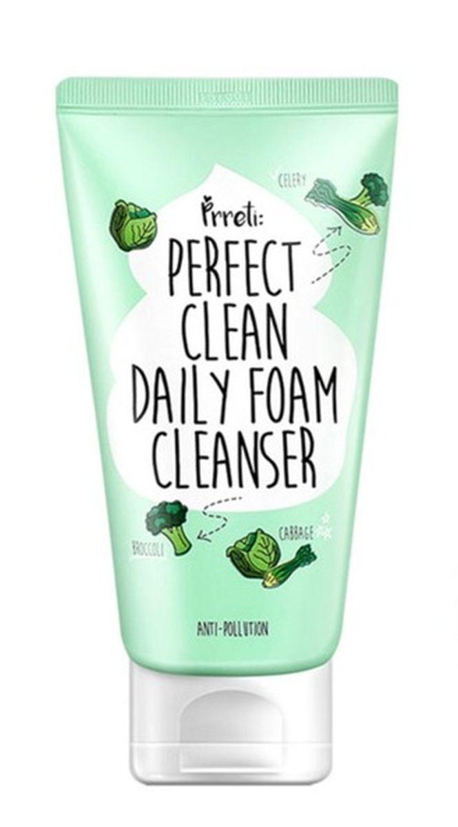 Очищающая пенка с детокс эффектом PRRETI Perfect Clean Daily Foam Cleanser - 150 гр