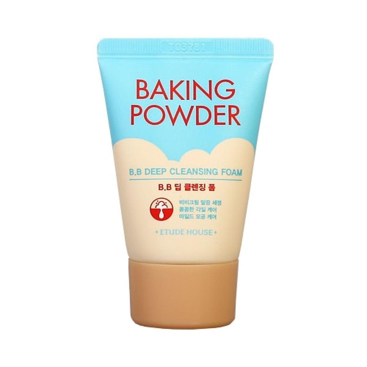 Миниатюра очищающей пенки с содой Etude House Baking Powder B.B Deep Cleansing Foam - 30 мл