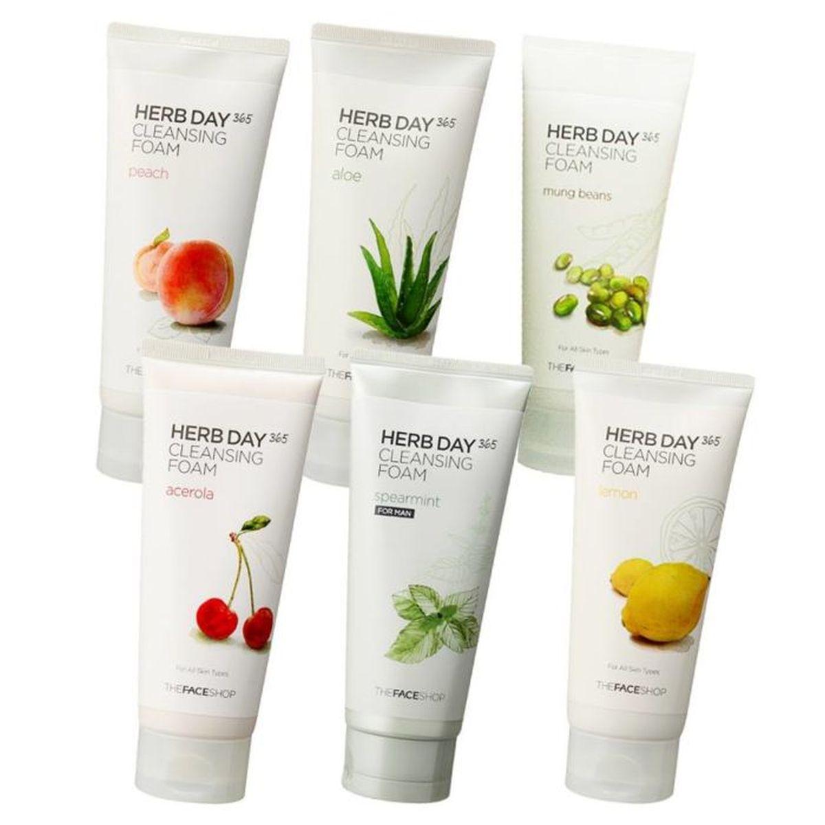 Пенка для умывания The Face Shop Herb Day 365 Cleansing Foam - 170 мл