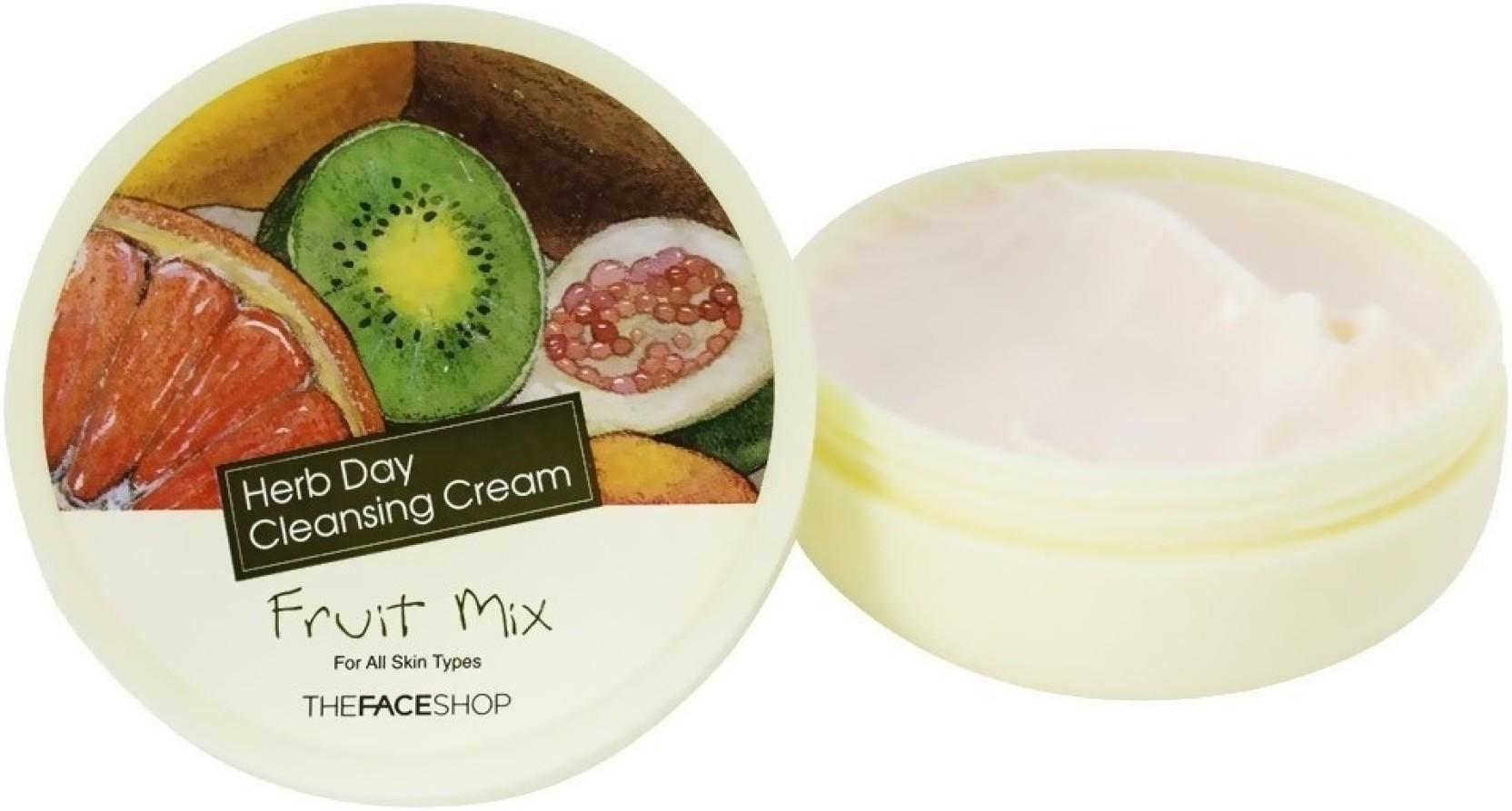 Очищающий крем для снятия макияжа The Face Shop Herb Day Cleansing Cream Fruit Mix - 150 мл