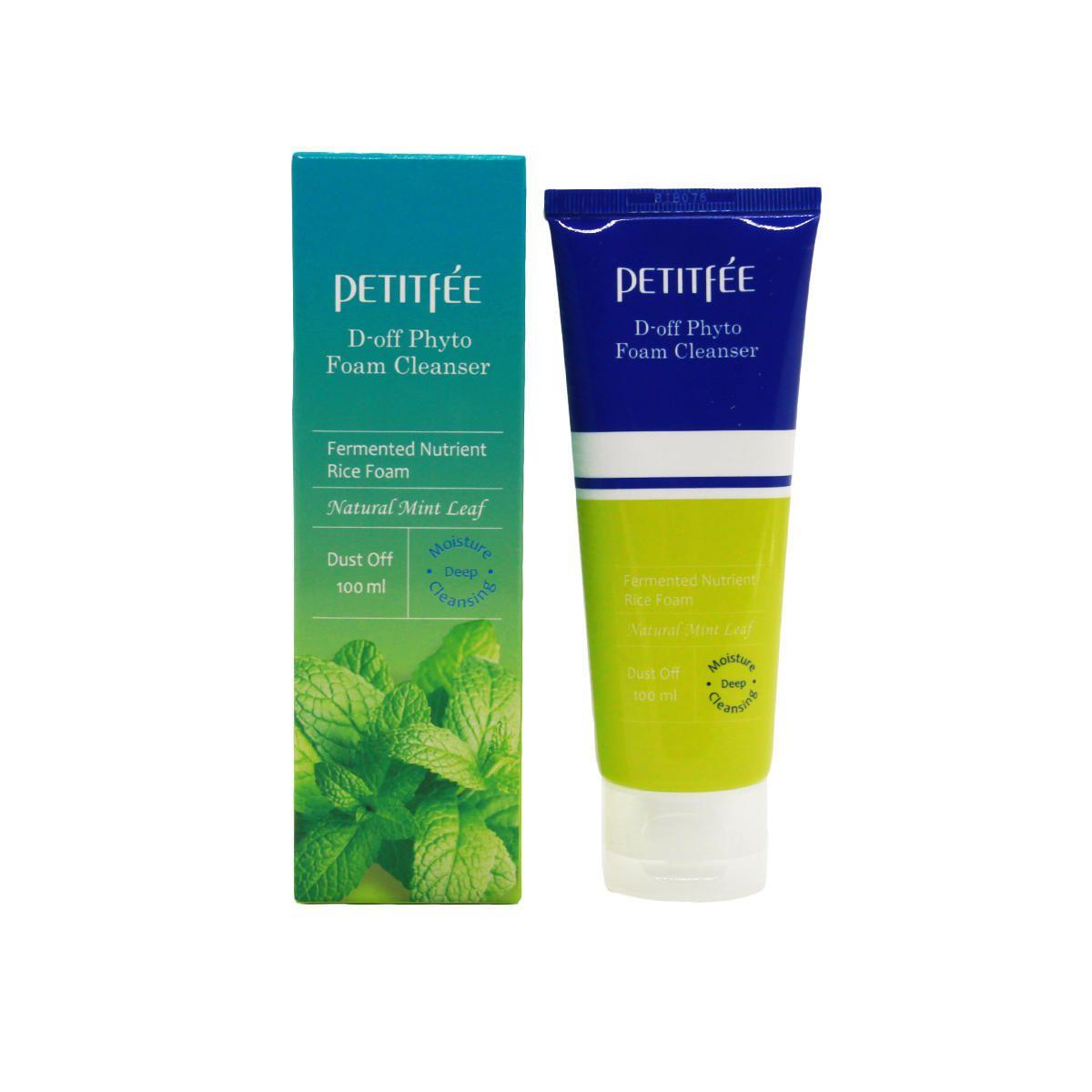 Пенка с мятой для глубокого очищения кожи Petitfee D-off Phyto Foam Cleanser - 100 мл