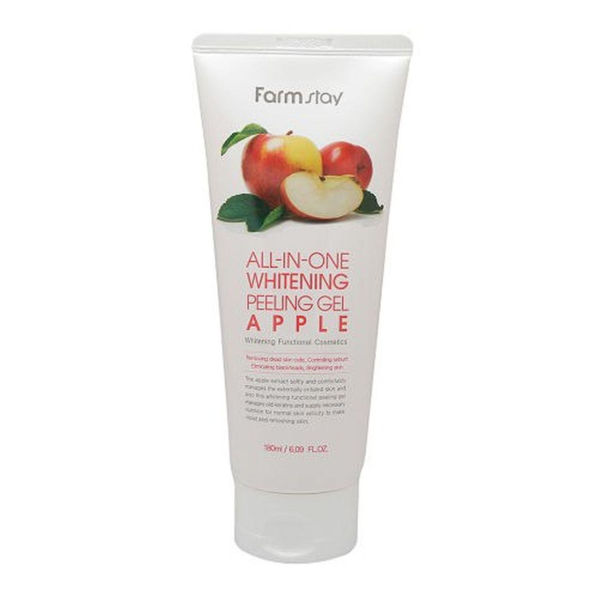 Пилинг-гель с экстрактом яблока FARMSTAY All-In-One Whitening Peeling Gel Apple - 180 мл