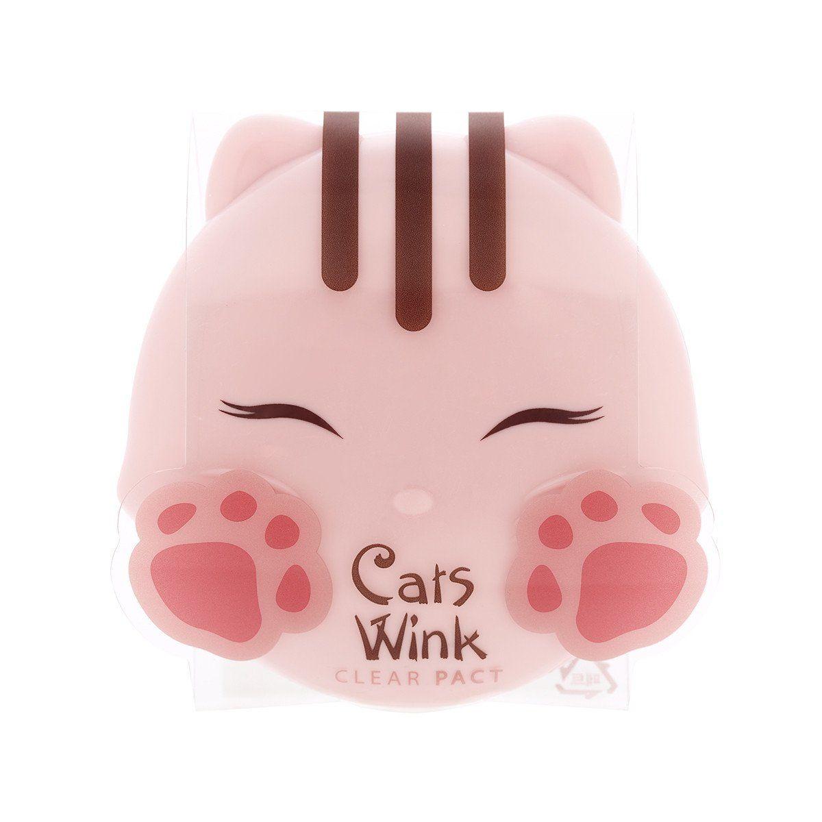 Матирующая компактная пудра Tony Moly Cats Wink Clear Pact - 11 гр
