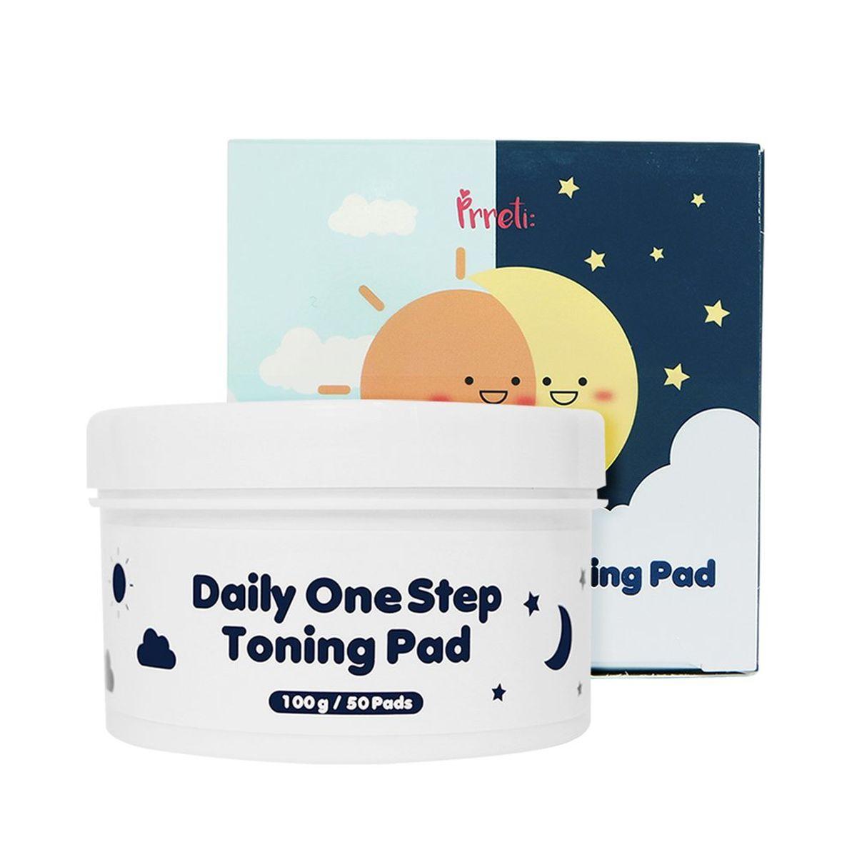 Очищающие пэды для лица PRRETI Daily One Step Toning Pad - 50 шт