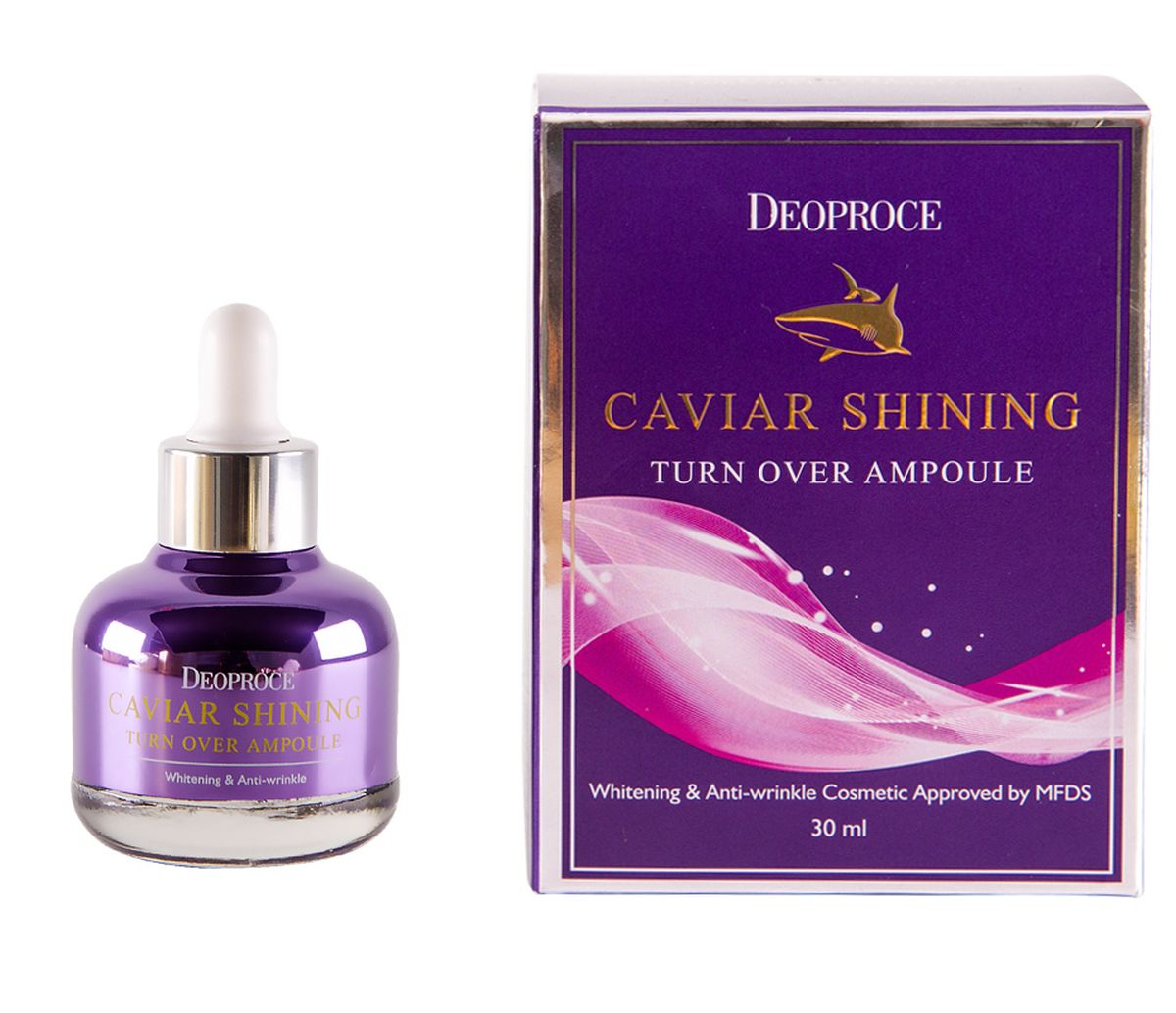 Сыворотка с экстрактом икры DEOPROCE Caviar Shining Turn Over Ampoule - 30 мл
