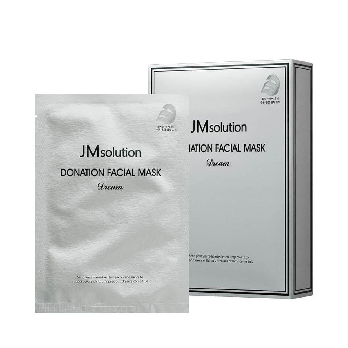 Осветляющая тканевая маска с пептидами JMsolution Donation Facial Mask Dream - 37 гр