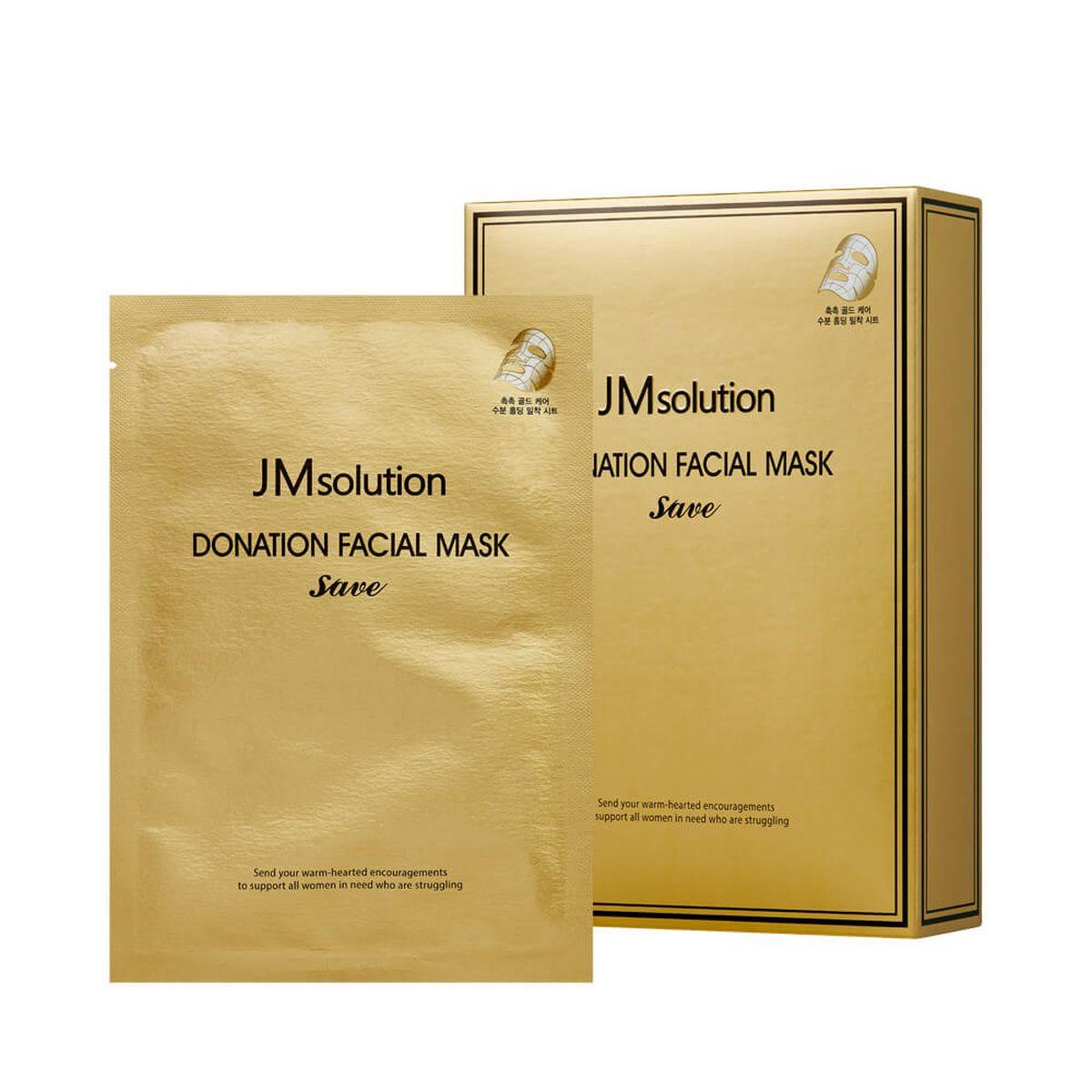 Укрепляющая тканевая маска с пептидами JMsolution Donation Facial Mask Save - 37 гр