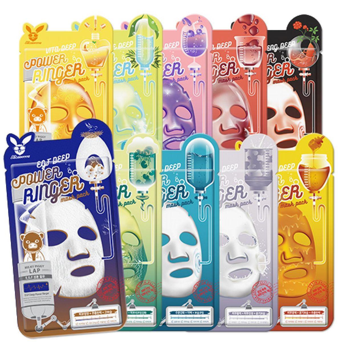 Тканевая маска для лица Elizavecca Deep Power Ringer Mask Pack - 23 мл