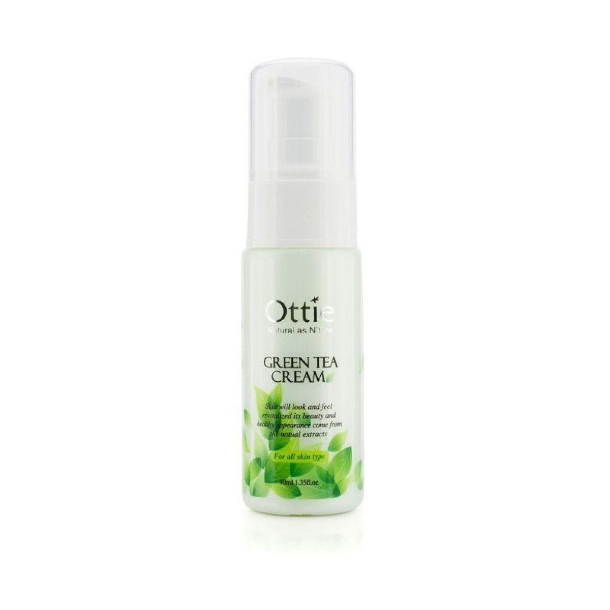 Увлажняющий крем для лица с зелёным чаем Ottie Green Tea Cream - 40 мл