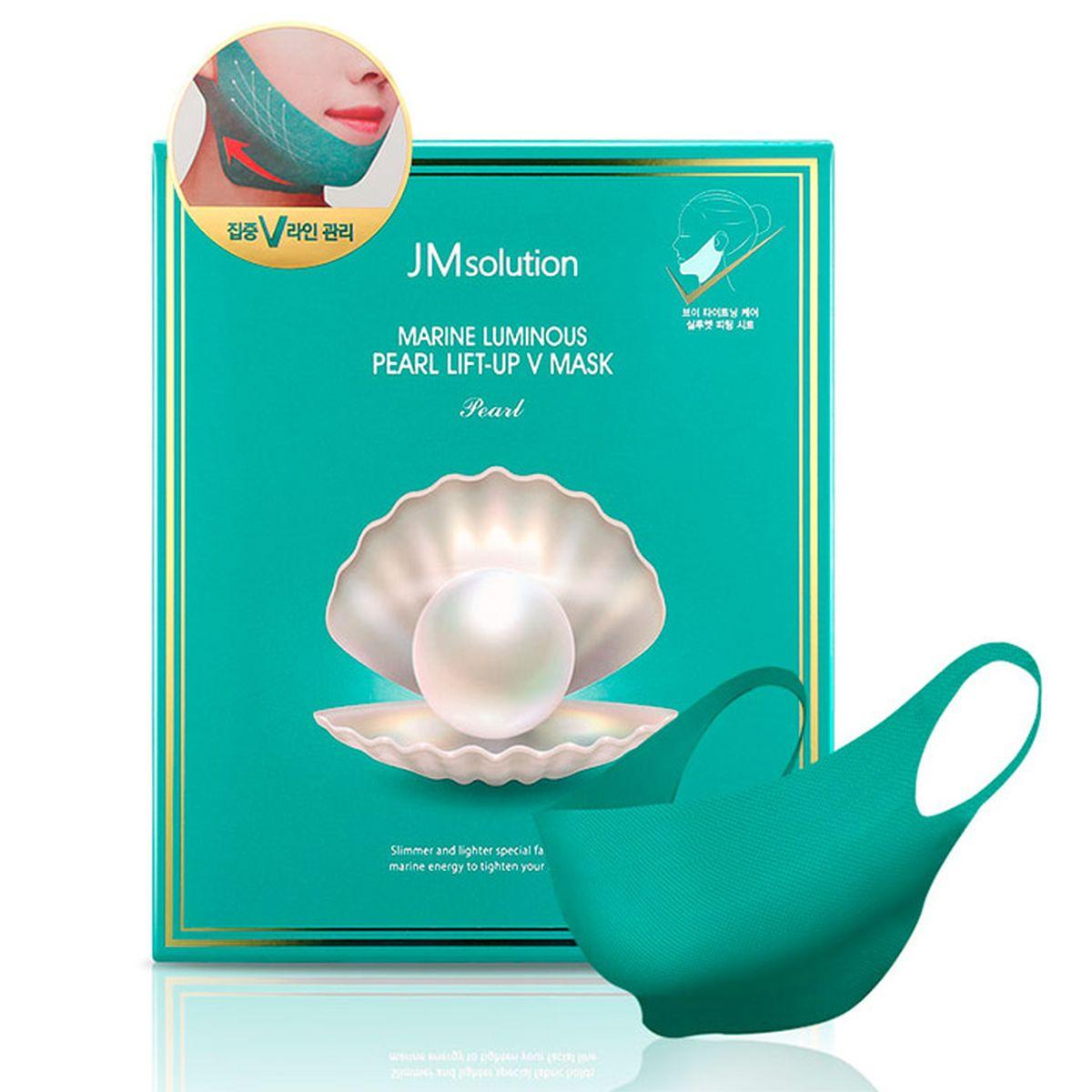 Лифтинг-маска для подбородка с жемчугом JMsolution Marine Luminous Pearl Lift-up V Mask - 25 гр