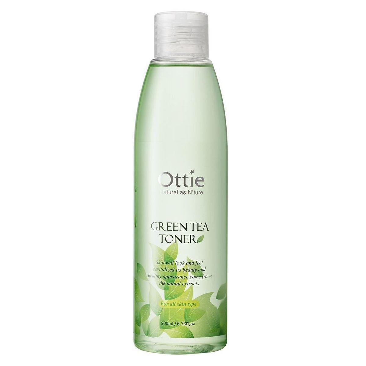 Увлажняющий тонер с зелёным чаем Ottie Green Tea Toner - 200 мл
