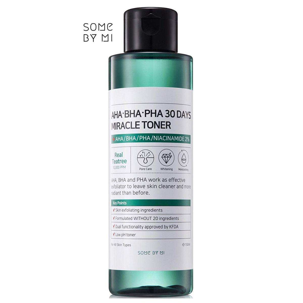 Кислотный тоник для проблемной кожи Some By Mi AHA-BHA-PHA 30 Days Miracle Toner - 150 мл