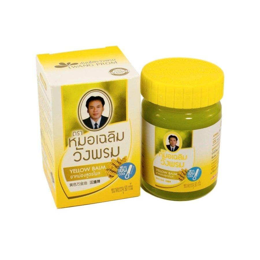 Тайский желтый бальзам для тела Вангпром WangProm Yellow Balm - 50 гр