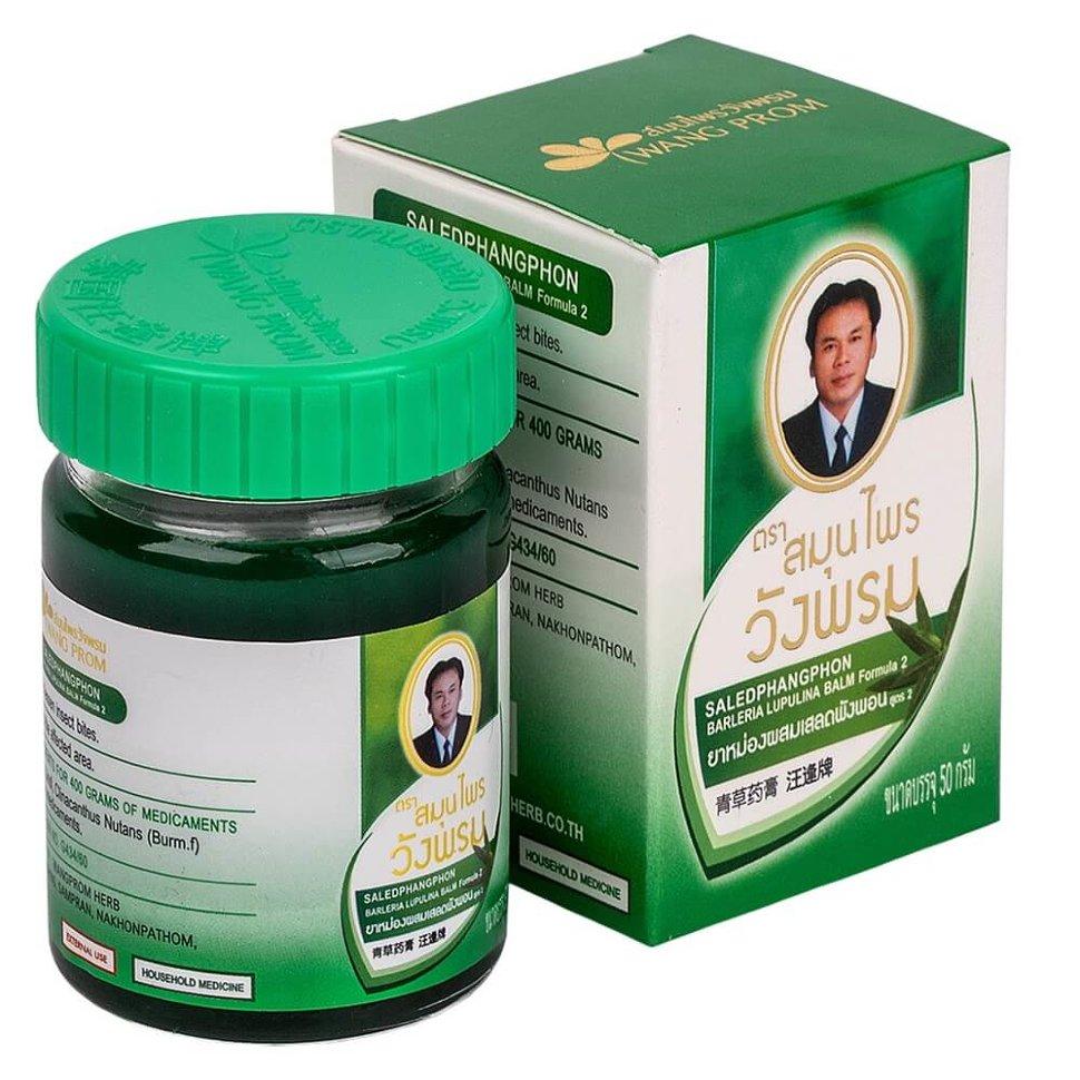 Тайский зеленый бальзам для тела Вангпром WangProm Green Balm - 50 гр