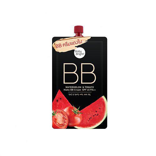 Миниатюра матирующего BB крема Baby Bright Watermelon & Tomato Matte BB Cream SPF 45 PA++ - 7 мл