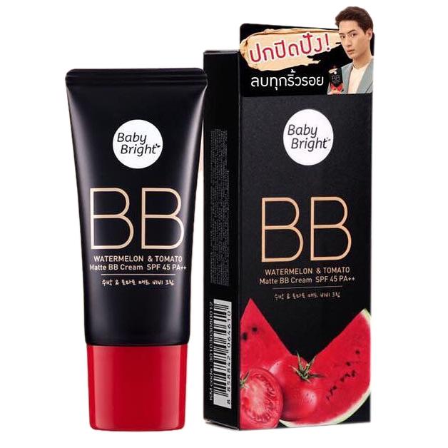 Матирующий BB крем Baby Bright Watermelon & Tomato Matte BB Cream - 30 мл