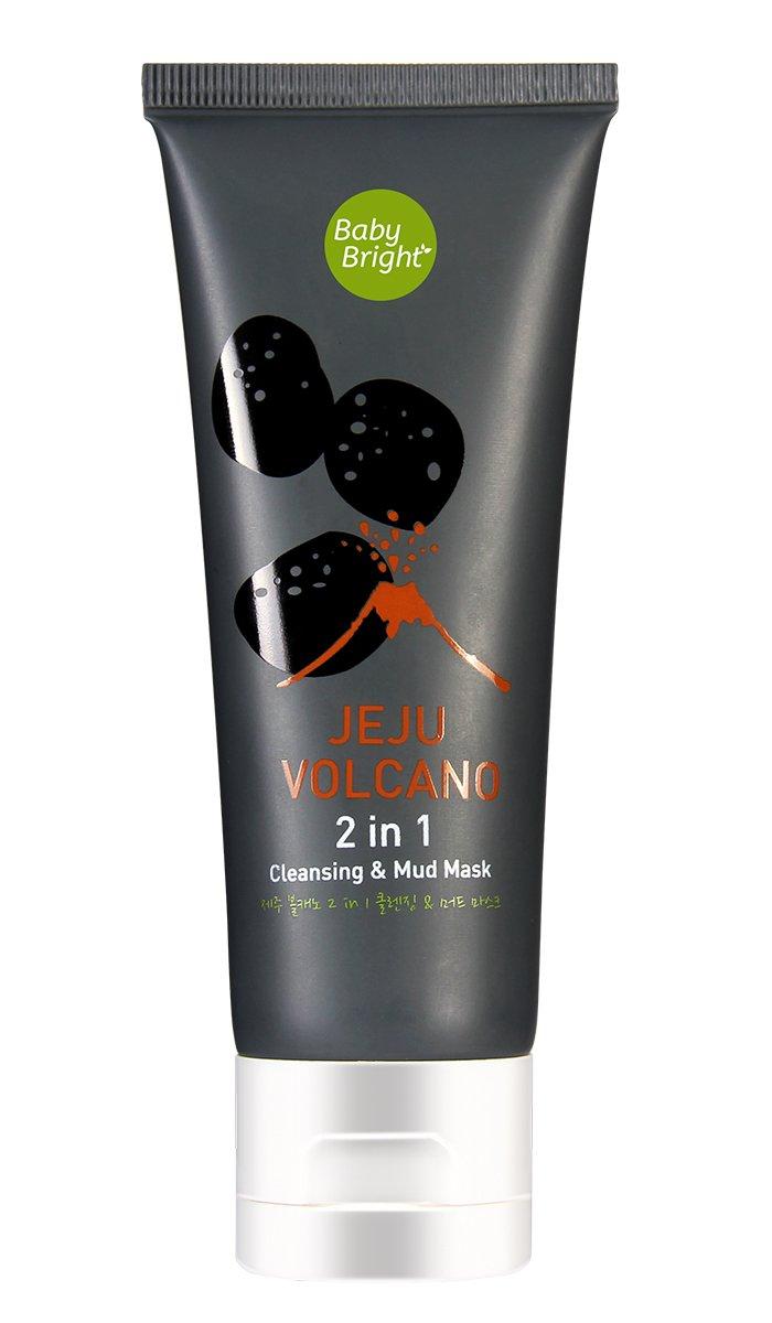 Маска-пенка с вулканической глиной Baby Bright Jeju Volcano 2 in 1 Cleaning & Mud Mask