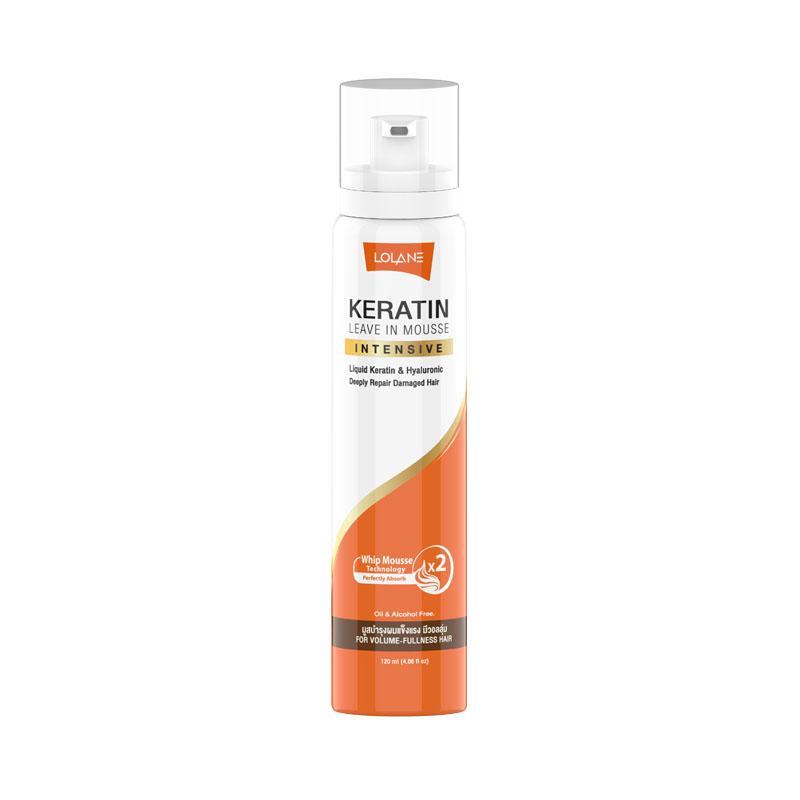 Кератиновый мусс для поврежденных волос Lolane Keratin Leave In Mousse - 120 мл