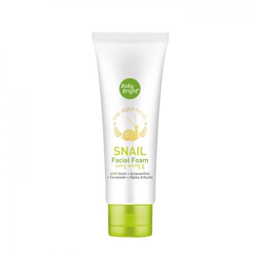 Очищающая улиточная пенка для умывания Baby Bright Snail Facial Foam