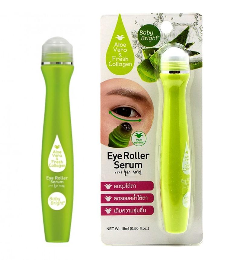 Сыворотка-роллер для век с алоэ Baby Bright Aloe Vera and Fresh Collagen Eye Roller Serum - 15 мл